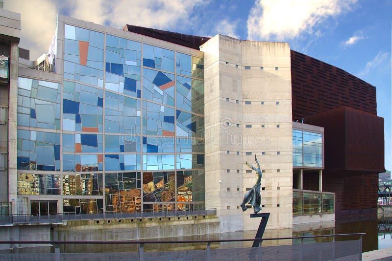 Euskalduna kongresu pałac w Bilbao, bask zdjęcie royalty free