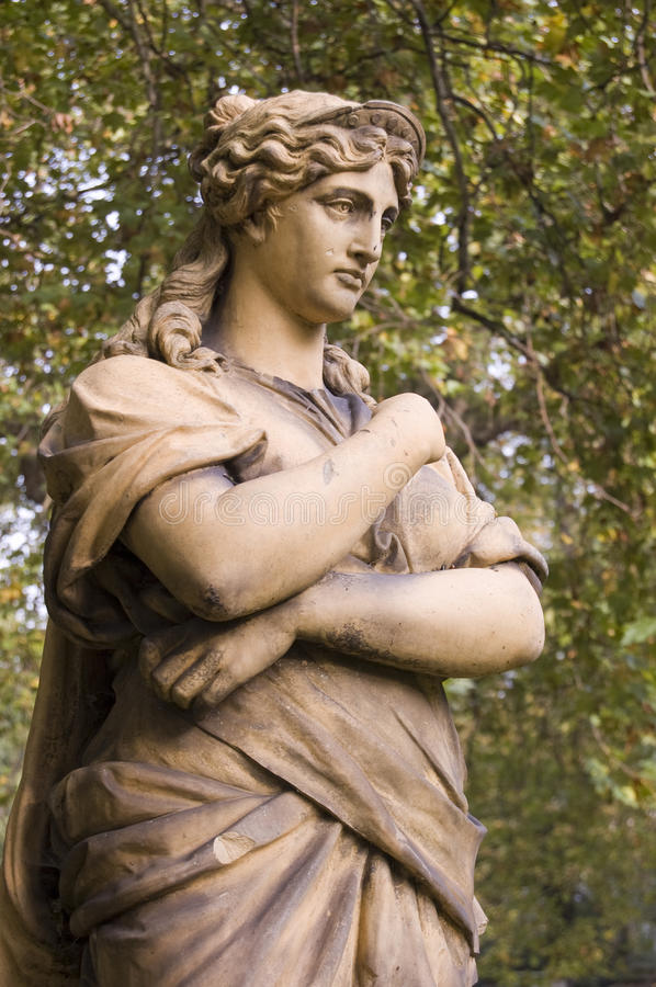 Euterpe Statue, London stock image