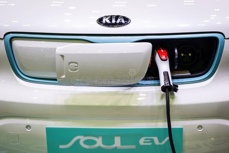 EV-Elektroauto DC fasten Gebühr lizenzfreie stockfotografie
