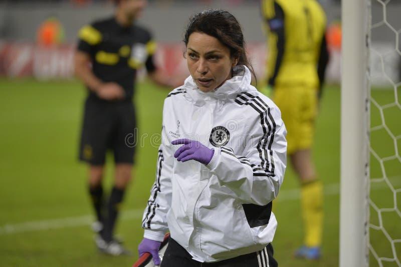 Eva Carneiro, le docteur de Chelsea images stock