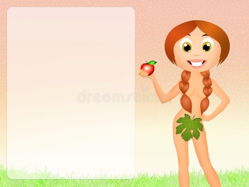 Eva en el Eden ilustración del vector