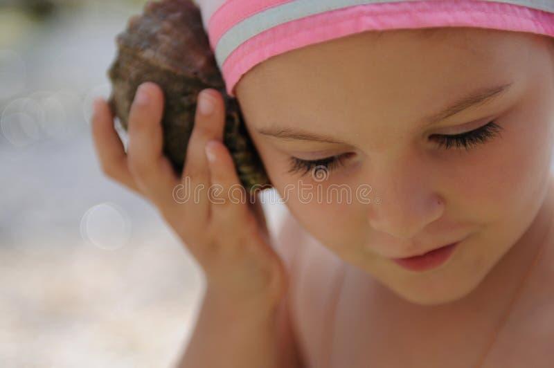 Eva et un seashell photo libre de droits