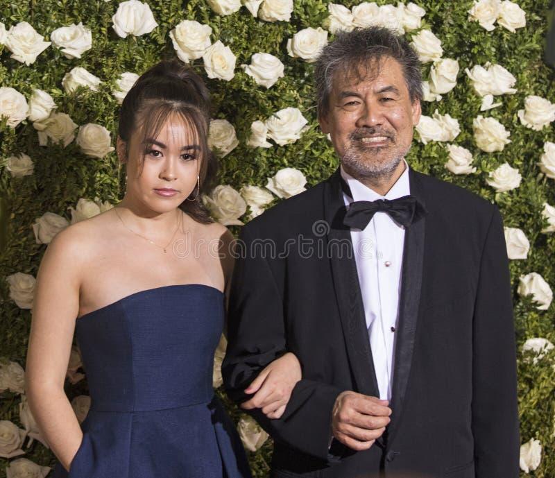 Eva Hwang und David Henry Hwang stockbild