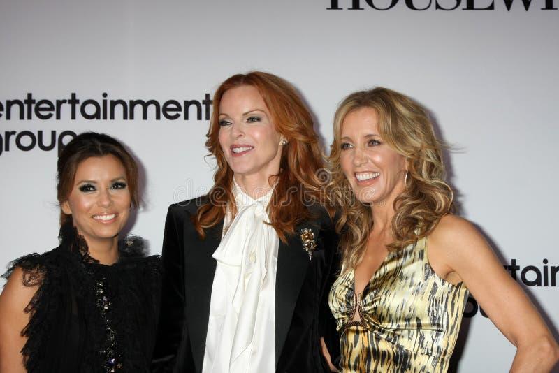 Eva Longoria, Felicity Huffman, Marcia Cross imagem de stock royalty free