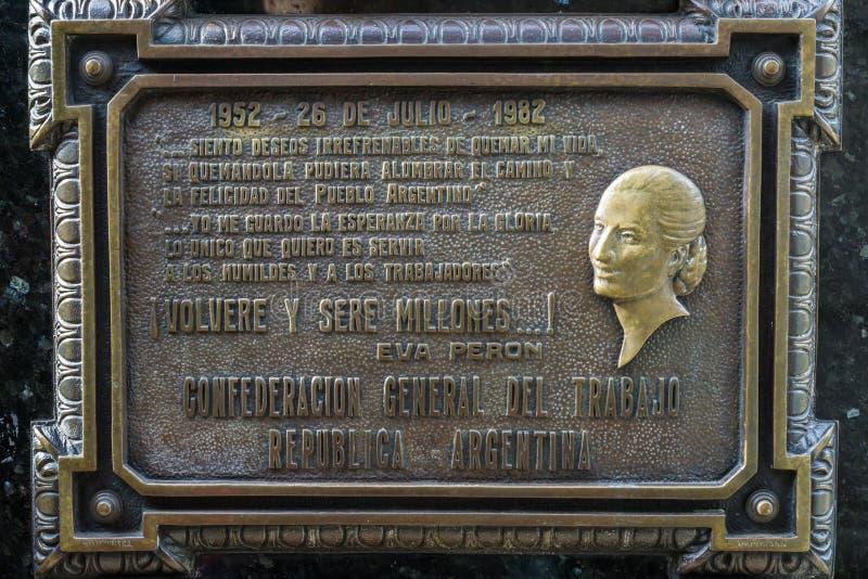 Eva Peron Tomb foto de stock royalty free