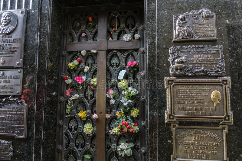 Eva Peron Tomb stock photography