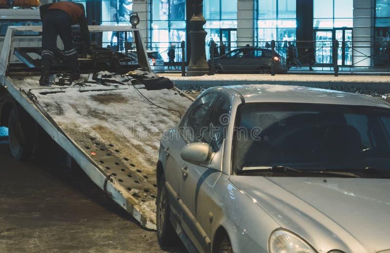Evacuação do carro imagem de stock