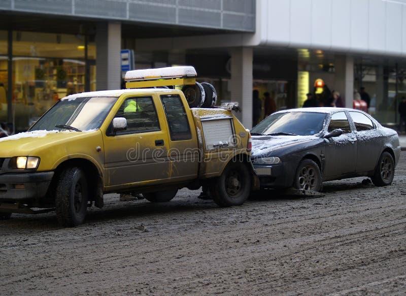 Evacuação do carro fotografia de stock
