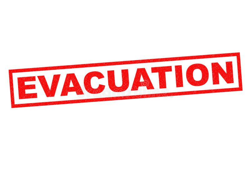 evacuatie royalty-vrije illustratie