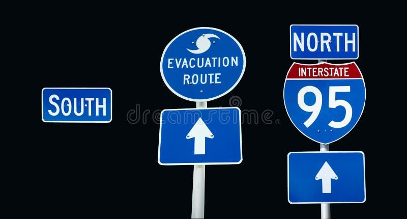 Evacuatie 95 tusen staten royalty-vrije stock afbeeldingen