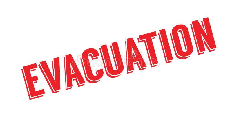 Evacuatie rubberzegel stock illustratie