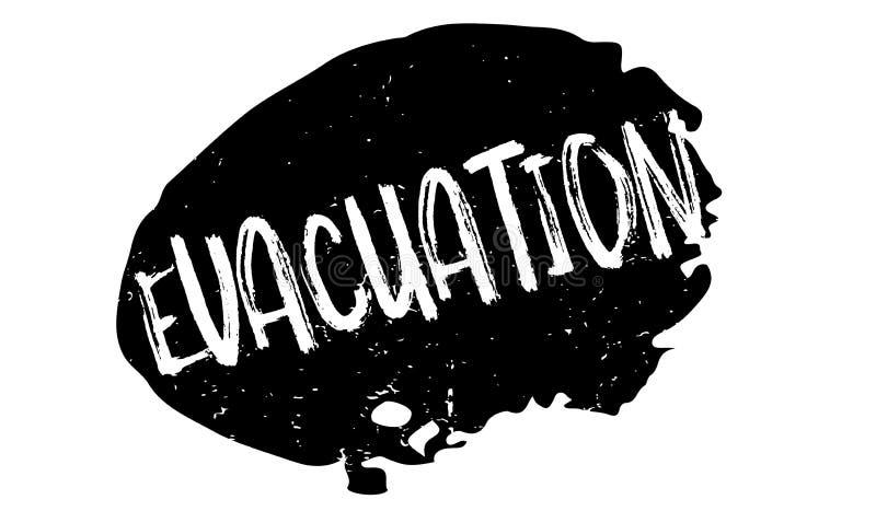 Evacuatie rubberzegel vector illustratie