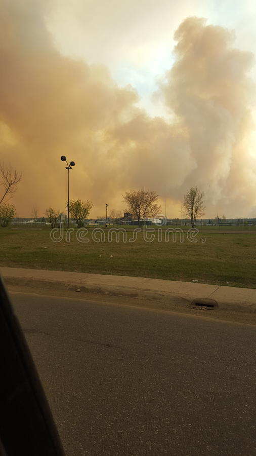 Evacuatiedag stock afbeelding