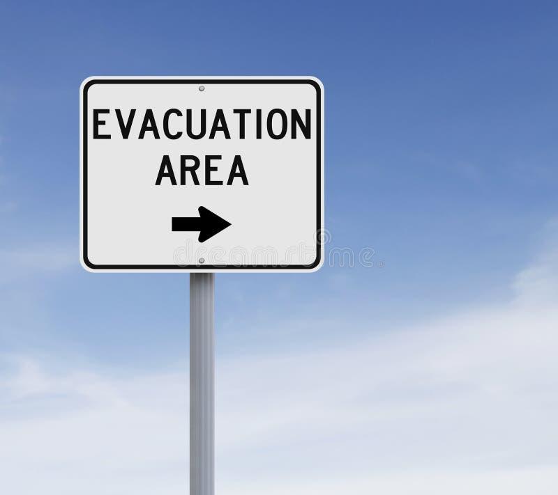 Evacuatiegebied royalty-vrije stock afbeeldingen