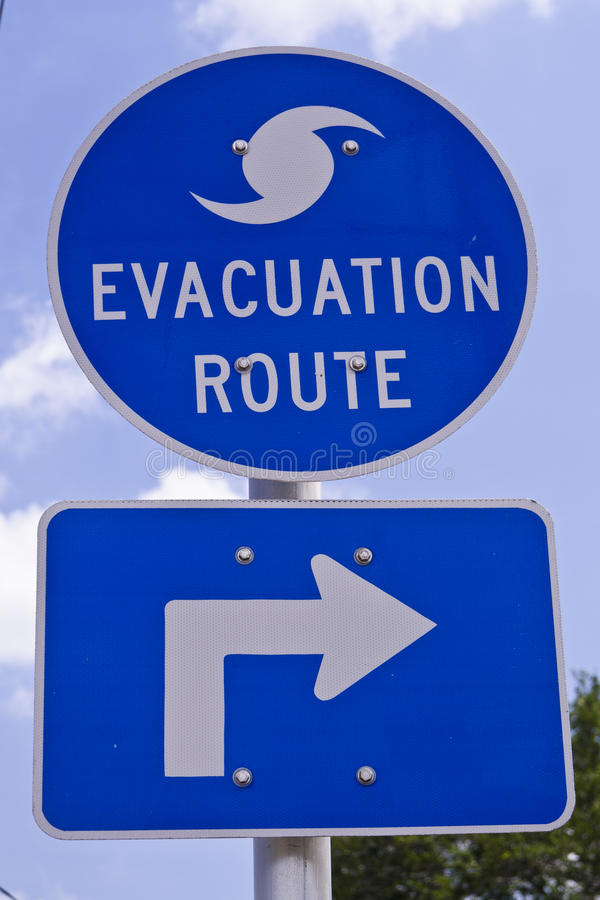 Download Evacuation Route Sign stock photo. Image of white, roadway - 15698078