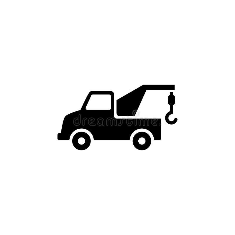 Evacuator płaska wektorowa ikona ilustracja wektor