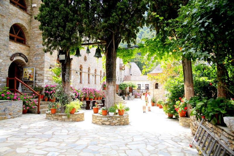 Evaggelistria修道院,斯基亚索斯岛 免版税图库摄影
