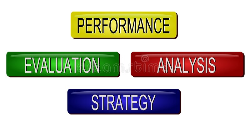 Evaluación de funcionamiento stock de ilustración