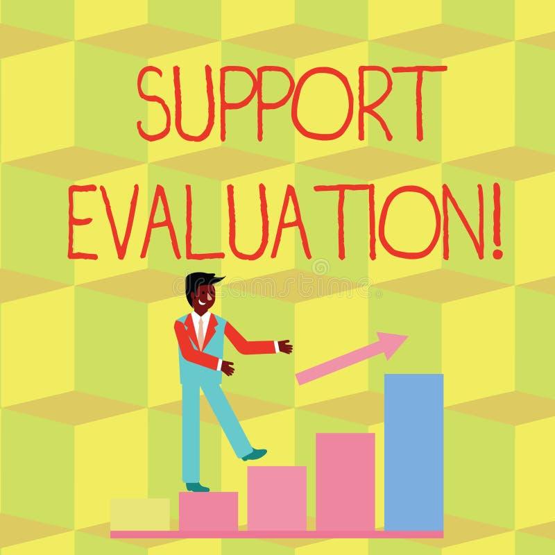 Evaluación de la ayuda del texto de la escritura Significado del concepto que ayuda al proceso que examina críticamente una sonri ilustración del vector