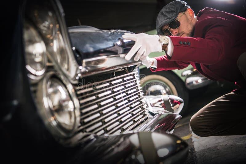 Evaluación del colector del coche fotos de archivo