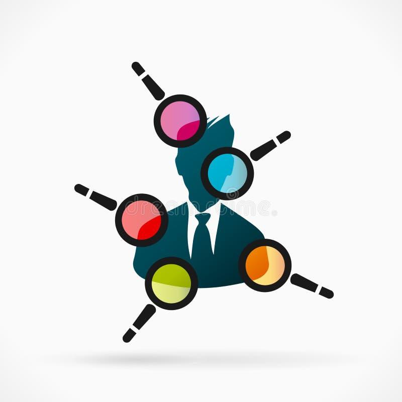 Evaluación del empleado ilustración del vector