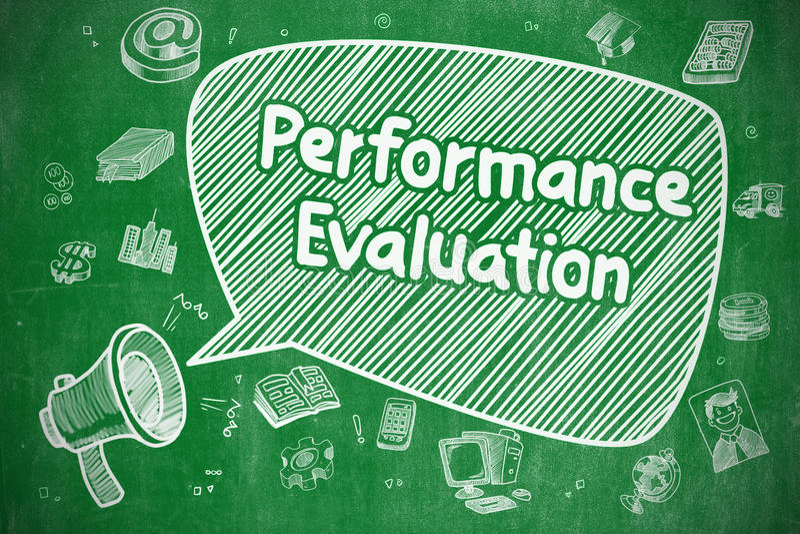Evaluación del rendimiento - concepto del negocio stock de ilustración