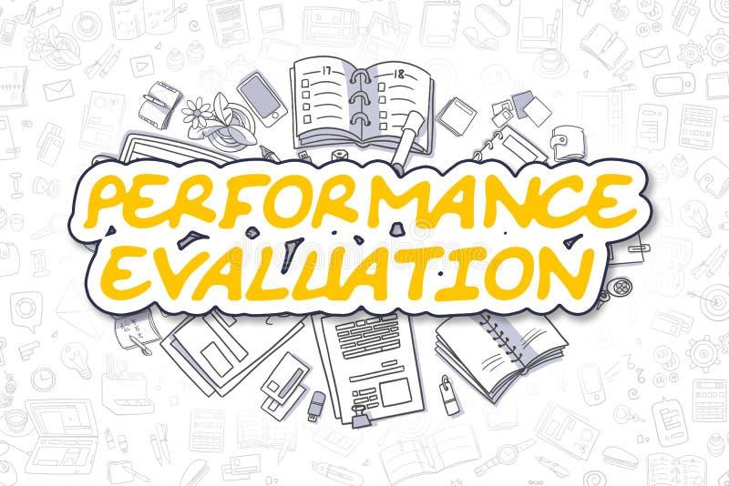Evaluación del rendimiento - concepto del negocio libre illustration