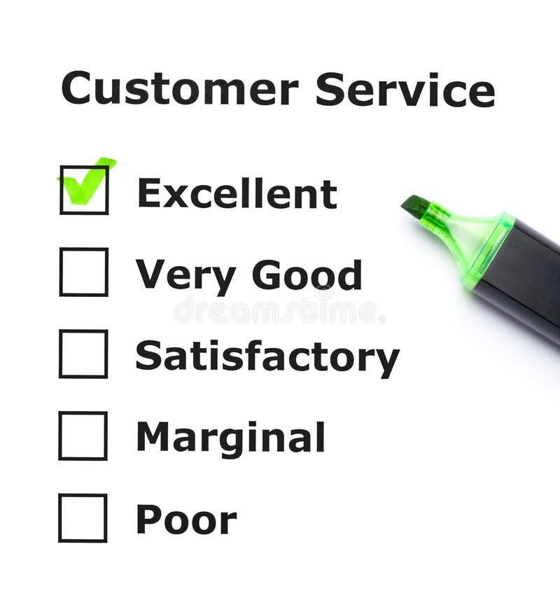 Evaluación del servicio de atención al cliente imagen de archivo