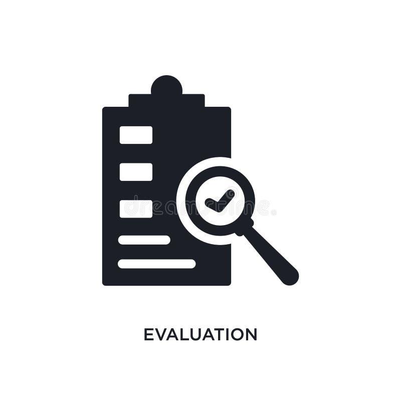 evaluatie geïsoleerd pictogram eenvoudige elementenillustratie van de kunstmatige pictogrammen van het intellegenceconcept teken  royalty-vrije illustratie