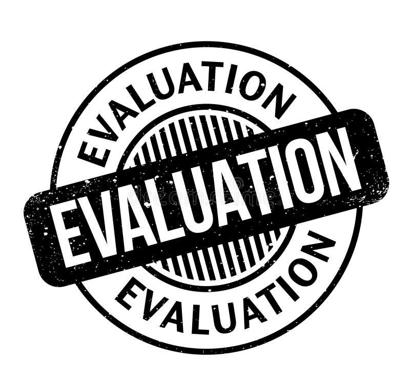 Evaluatie rubberzegel stock illustratie
