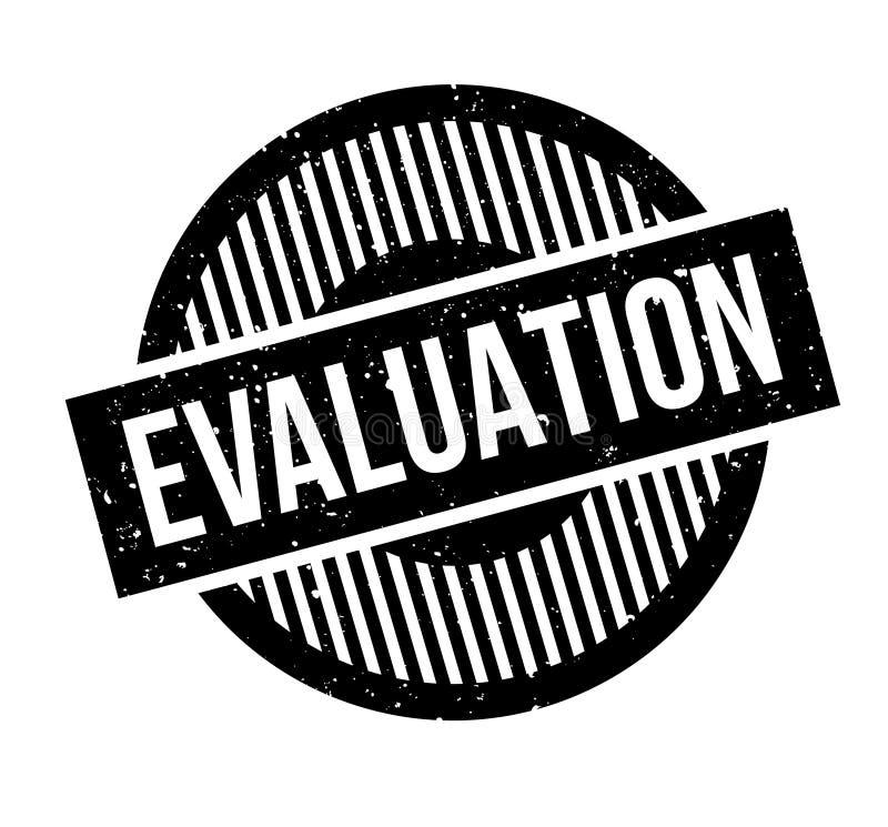 Evaluatie rubberzegel vector illustratie