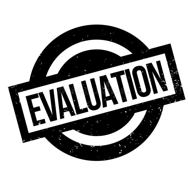 Evaluatie rubberzegel royalty-vrije illustratie