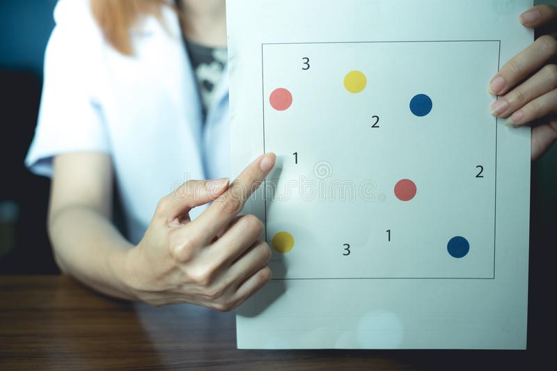 Neuropsychological testing for dementia royalty free stock image