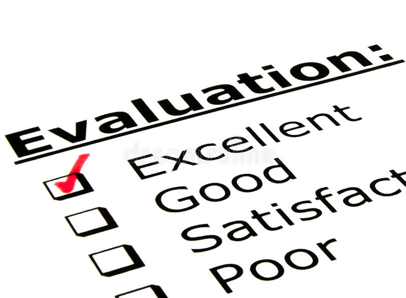 Evaluation Form stock photo