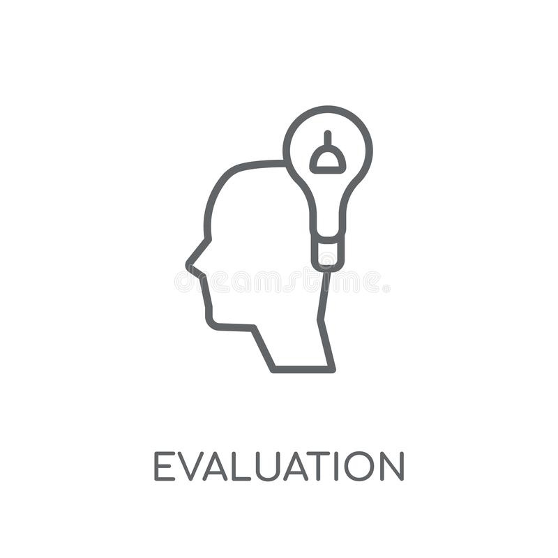 Evaluation linear icon. Modern outline Evaluation logo concept o. N white background from Artificial Intellegence and Future Technology collection vector illustration