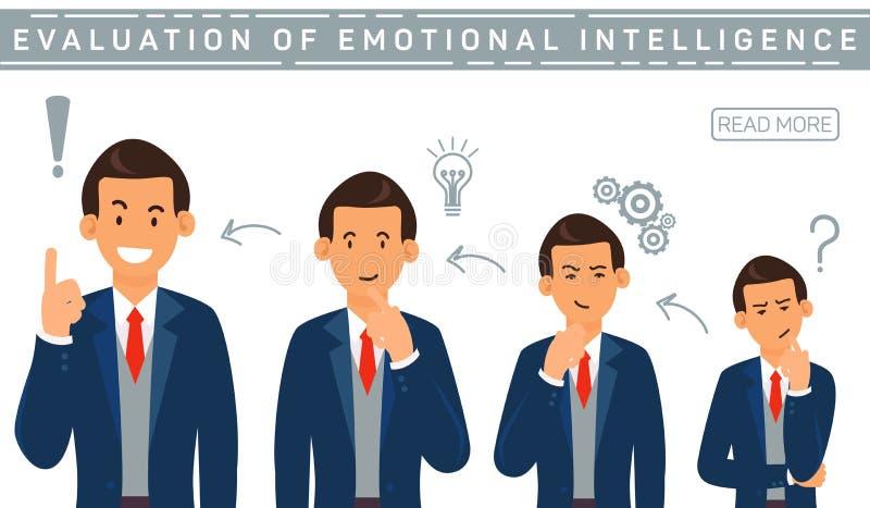 Evalution för plant baner emotionell intelligens stock illustrationer