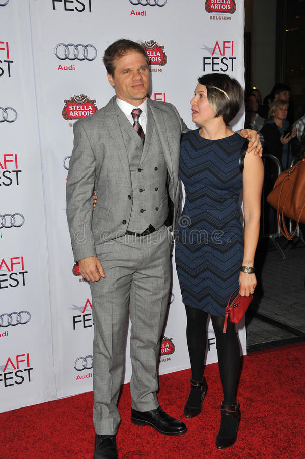 Evan Jones. LOS ANGELES, CA - NOVEMBER 11, 2014: Evan Jones at the gala screening of his movie The Homesman as part of the AFI Fest 2014 at the Dolby Theatre stock photo