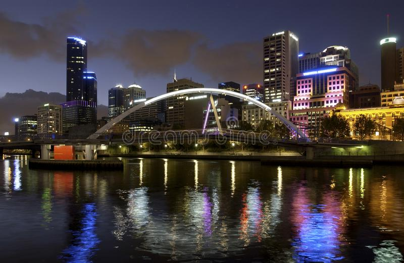 Evan Walker Bridge - Melbourne - l'Australie photo libre de droits
