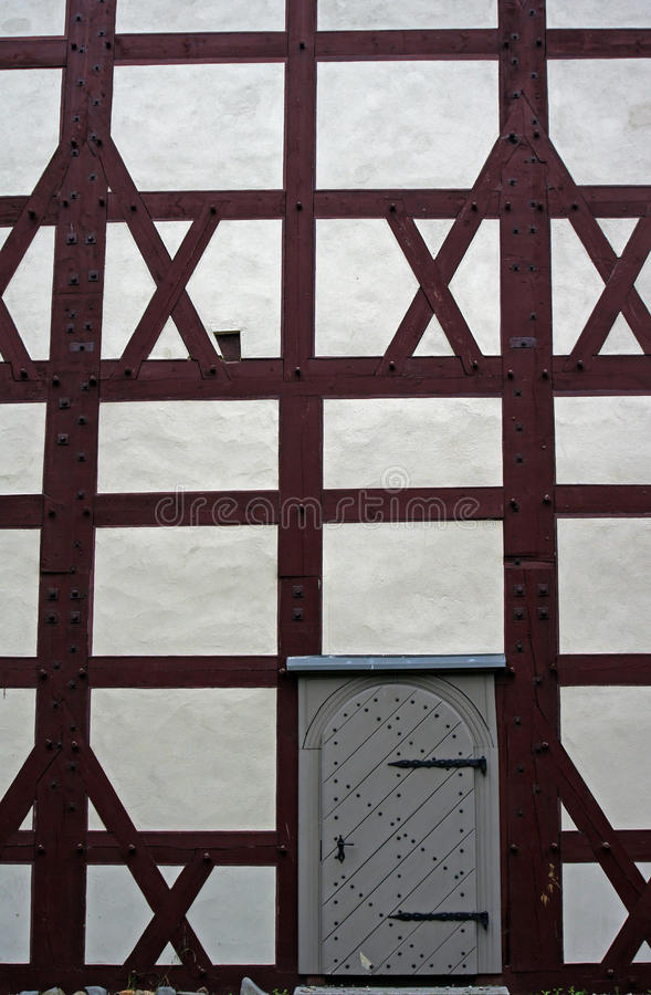 Evangelical Church With Half-timbered  Wall Stock Photos