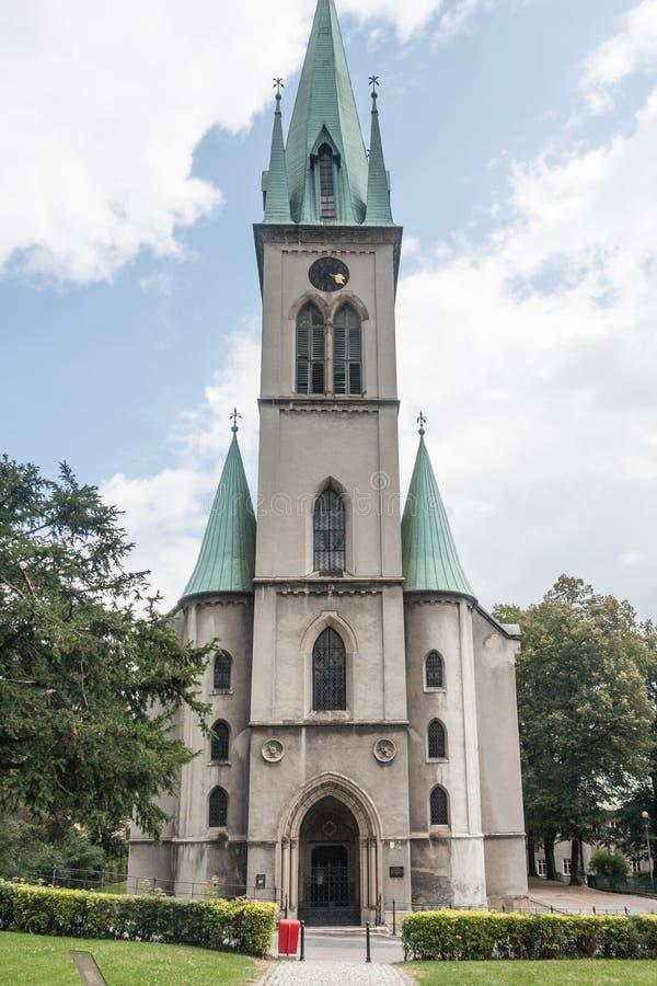 Evangelical histórico - a igreja de Augsburg do salvador imagens de stock royalty free