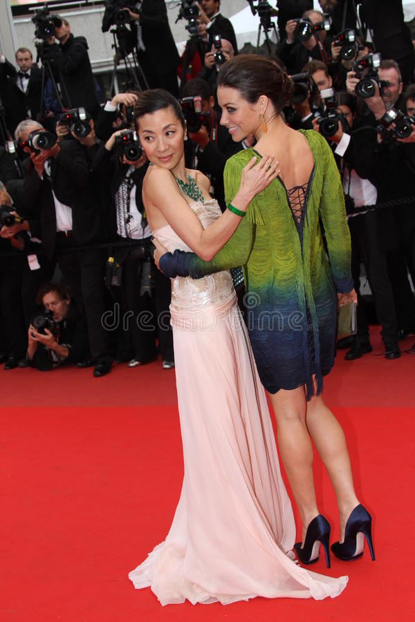 Evangeline Lilly e Michelle Yeoh foto de stock royalty free