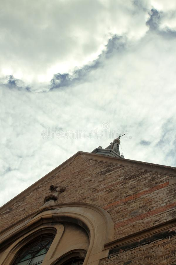 Evangelische Kirche Detail lizenzfreie stockfotografie