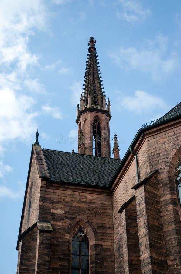 Evangelische Stadtkirche dans Offenburg, Allemagne photos stock