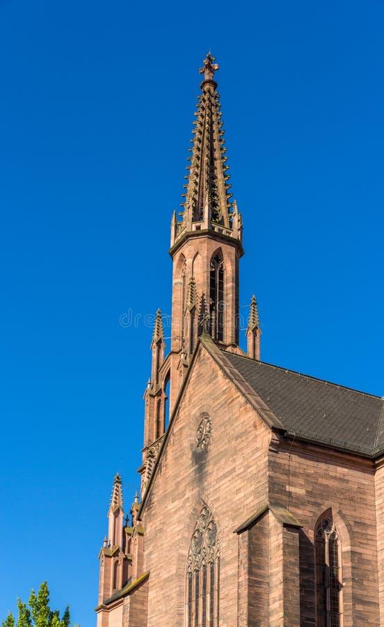 Evangelische Stadtkirche em Offenburg - Alemanha fotografia de stock