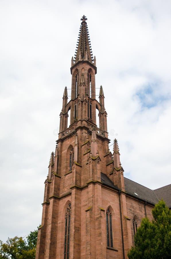 Evangelische Stadtkirche Offenburg - en Allemagne images libres de droits