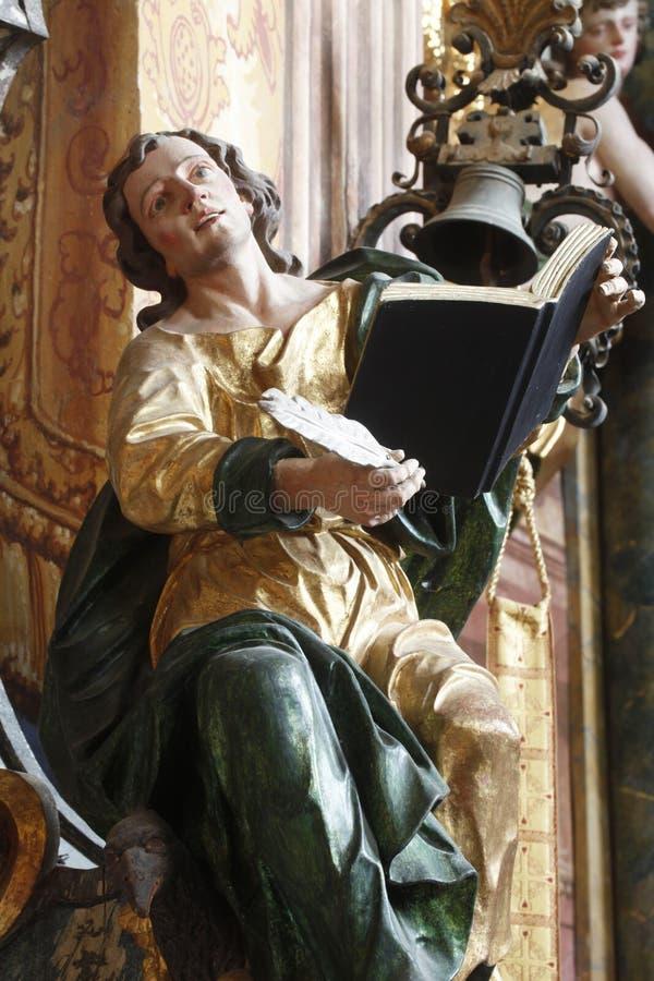 evangelist John Άγιος στοκ εικόνα