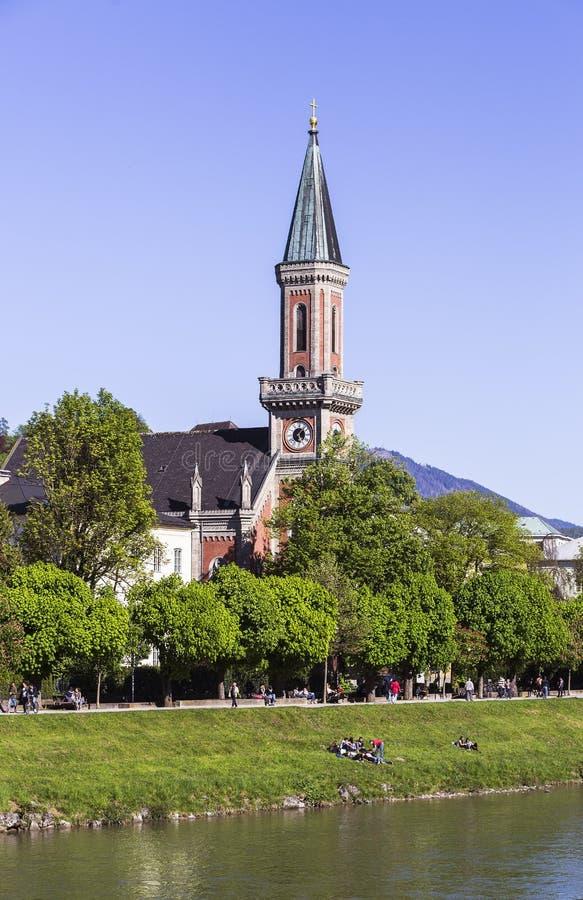 Evangelista Christchurch, Salzburg imagenes de archivo