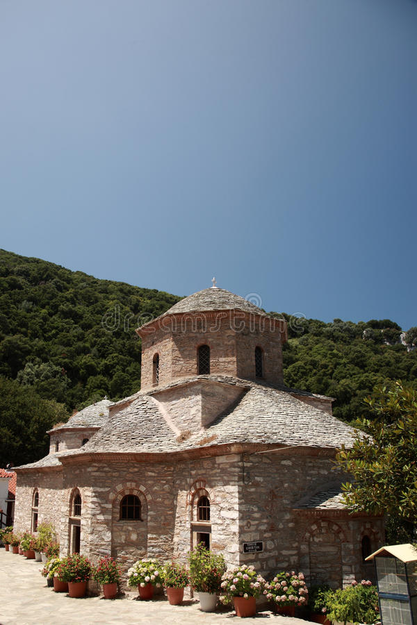 Evangelistria修道院, Skiathos 免版税库存照片