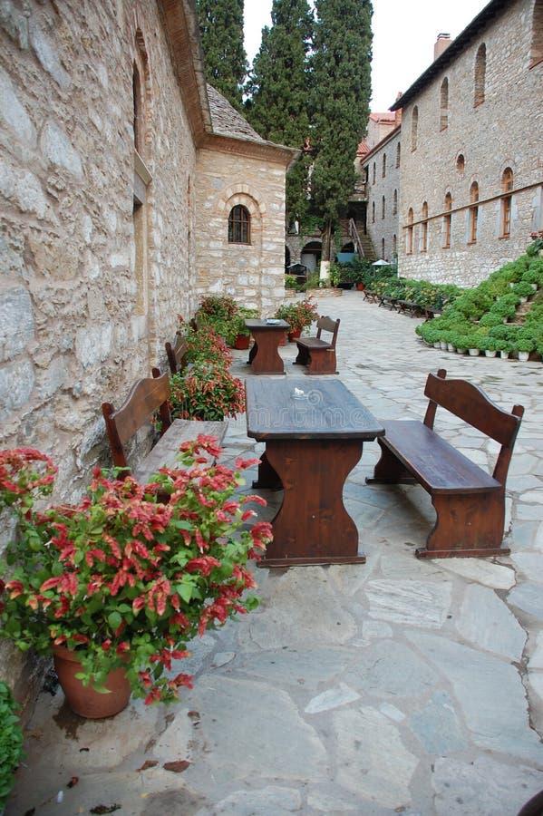 Evangelistria del monastero, Skiathos immagine stock
