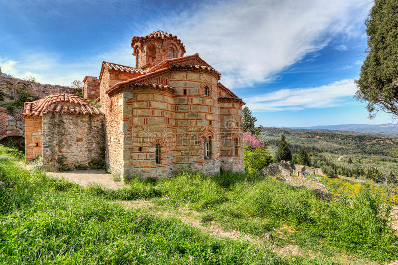 Evangelistria in Mystras, Griekenland royalty-vrije stock fotografie